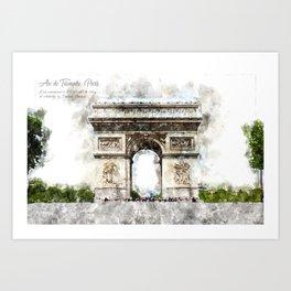 Arc de Triomphe, Aquarell Art Print