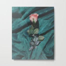 fake pink rose Metal Print