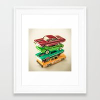 cars Framed Art Prints featuring Cars by Carl Christensen