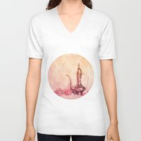 oriental V-neck T-shirts featuring ORIENTAL DREAM by VIAINA