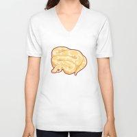 monty python V-neck T-shirts featuring Albino Ball Python by Cargorabbit