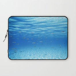 School of Fish Swimming over Sand Bottom in the Tropical Sea Laptop Sleeve