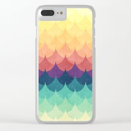 Sailing in Rainbow Waves Clear iPhone Case