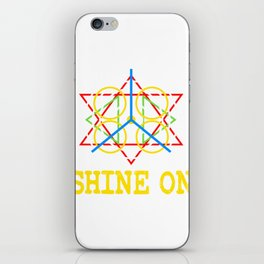 "A Shining Tee For A Wonderful You Saying ""Shine On"" T-shirt Design Star Circle Triangle Glowing  iPhone Skin"