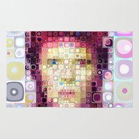 david bowie Area & Throw Rugs featuring David Bowie by Artstiles