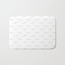 Flying Fuck - White - Pattern Bath Mat