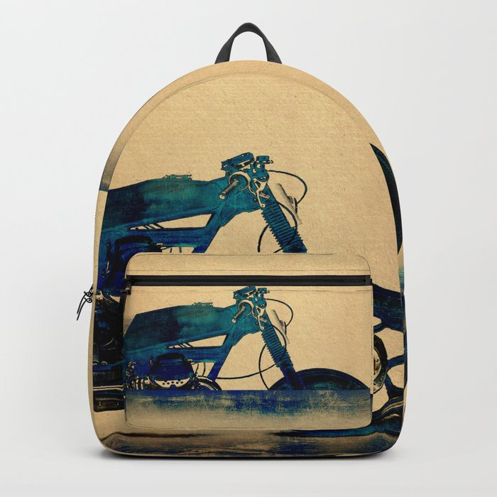 Metalic Blue Backpack