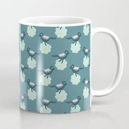Daisy Flowers and Tiny Birds Seamless Pattern Coffee Mug
