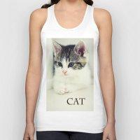 cat coquillette Tank Tops featuring Cat by Falko Follert Art-FF77