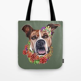 Flower power puppy Tote Bag
