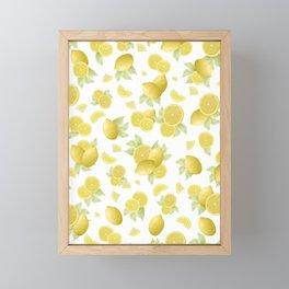 Summer Lemon Twist #1 #tropical #fruit #decor #art #society6 Framed Mini Art Print