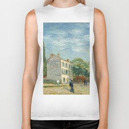 Restaurant Rispal at Asnieres by Vincent van Gogh Biker Tank
