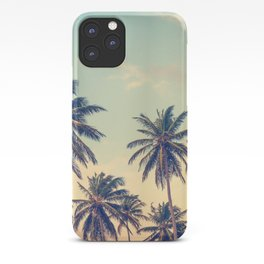 retro palms iPhone Case
