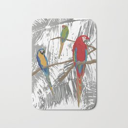 Spice Island Tropical Bird Art Print Bath Mat