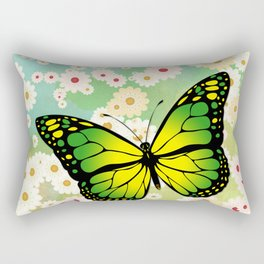 Green butterfly Rectangular Pillow