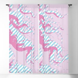 Venus - Pink & Cyan - Trans Pride! - Window Curtain (Right) Blackout Curtain
