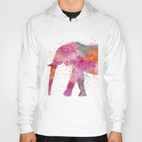 artsy Hoodies featuring Artsy Elephant by LebensART