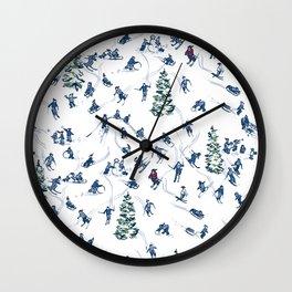 Let's Go Skiing! – Xmas Edition Wall Clock