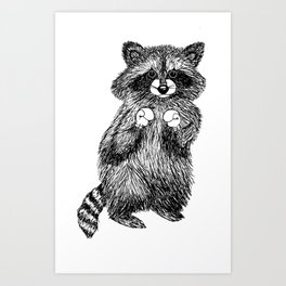 Rocky Raccoon Art Print