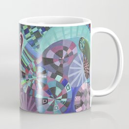 "Moo's Mom's art ""Purple Swirl"" Coffee Mug"