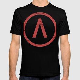 Red Sparta Lambda Symbol T-shirt