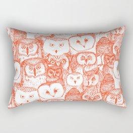 just owls flame orange Rectangular Pillow