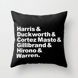 nasty women: senators (w) Throw Pillow