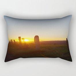 Walk in the evening Rectangular Pillow