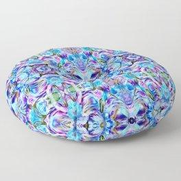 Turquoise Blue Flower Girly  Pattern Floor Pillow