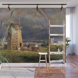 American Masterpiece 'Old Hook Mill, East Hampton, Long Island' by Edward Henry Wall Mural