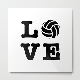 I Love Volleyball Metal Print