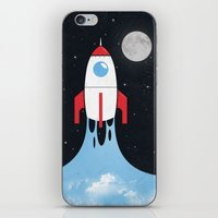 rocket iPhone & iPod Skins featuring Rocket by laurxy