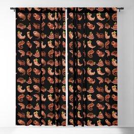Chocolate Reptiles - dark Blackout Curtain