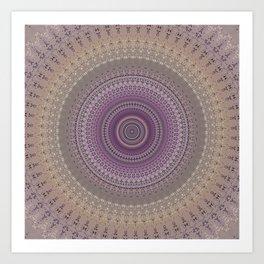 Elegant Lavender Mandala Art Print