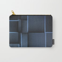 Rhythm of Rectangles and Blues Carry-All Pouch