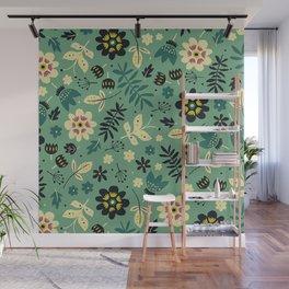 As flores do seu jardim Wall Mural