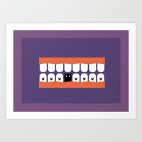 rooster teeth Art Prints featuring teeth by Tr. H