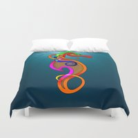 psychadelic Duvet Covers featuring Psychadelic Seahorse Knot by Knot Your World