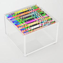 inclined coloured stripes Acrylic Box