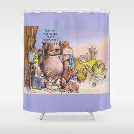 wild times Shower Curtain