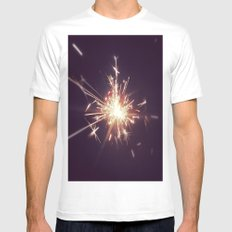 Fireworks MEDIUM White Mens Fitted Tee