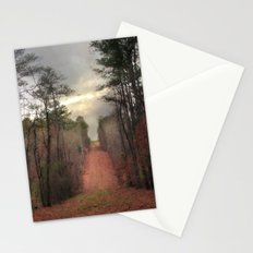 Surreal Autumn Fall Nature Trees Path Woodland Landscape Stationery Cards