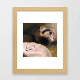 Ferret Mommy Framed Art Print