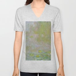 Water Lily Pond by Claude Monet Unisex V-Neck