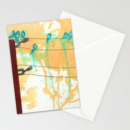 Birds on the Line Stationery Cards