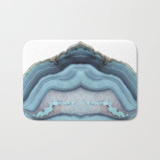 Light Blue Agate Bath Mat
