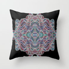 Abstract Waves of Thoughts Throw Pillow