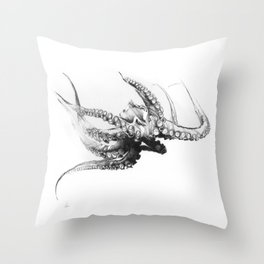 Octopus Rubescens Throw Pillow