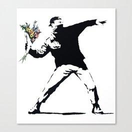 Flower Thrower Canvas Print