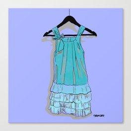 Blue Doll Dress Canvas Print